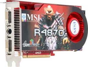 MSI HD4870 512MB card