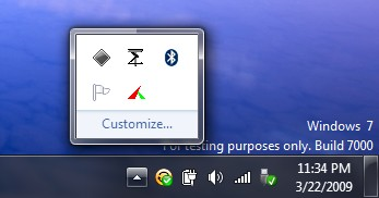Windows 7 redesigned notification tray