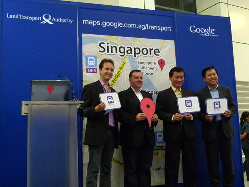 LTA and Google representatives posing for the media