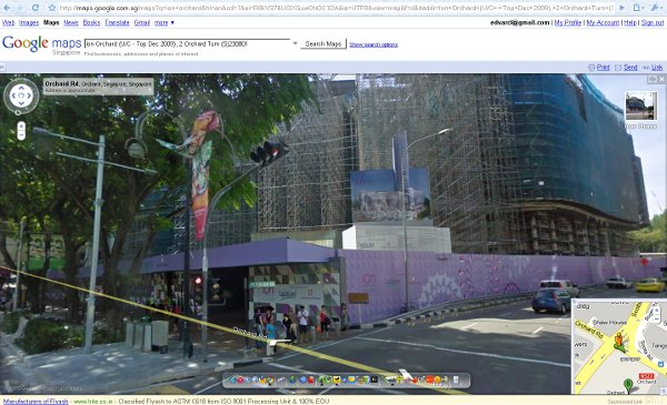 Google Streetview Singapore at ION Orchard