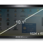 Archos 101 tablet screen size - great for movies in its widescreen