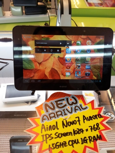 Ainol Novo 7 Aurora tablet sports Android 4.0, IPS screen, and costs S$220 in Singapore