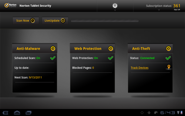 Goondu review: Norton Tablet Security