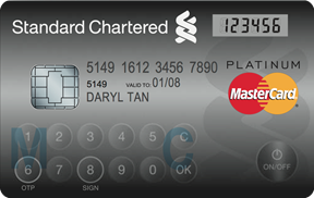 New StanChart MasterCard doubles as security token