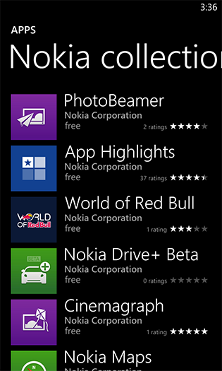 Nokia Collection on Lumia smartphones