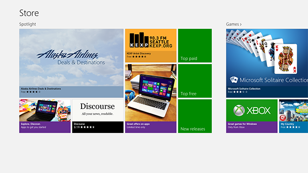Windows 8 Store in the US