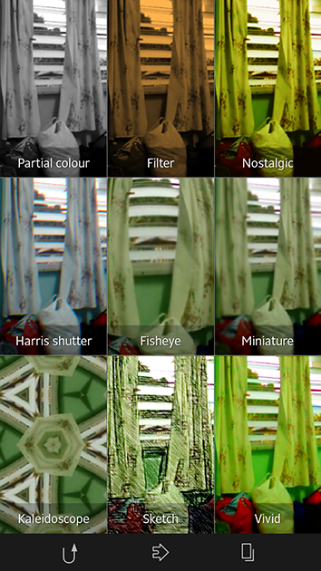 Filters on Xperia Z's camera