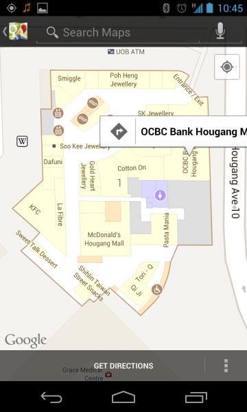Google Maps  Hougang Mall floorplan
