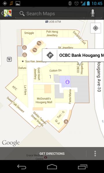 Google Maps  Hougang Mall floorplan