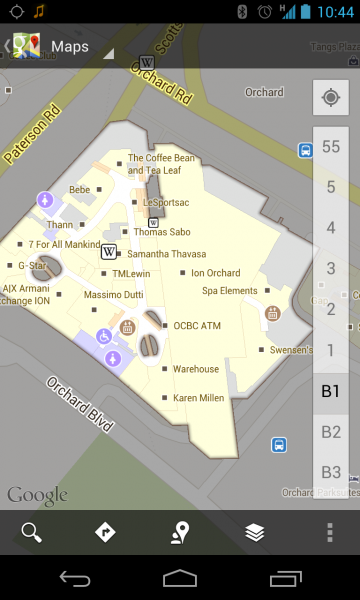 Google Maps Ion Orchard floorplan