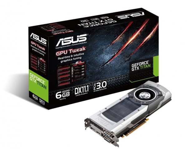 ASUS GeForce GTX Titan graphics card with box