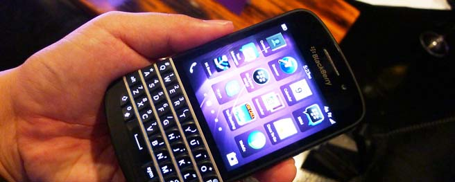 Hands on: BlackBerry Q10