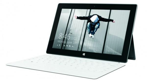 Surface Pro slanted-front White
