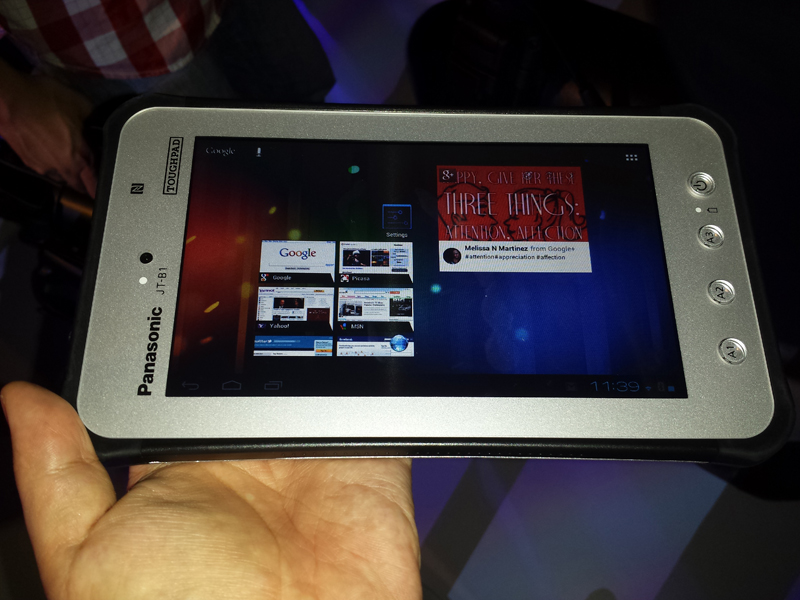 CommunicAsia 2013: Panasonic shows off Toughpad JT-B1