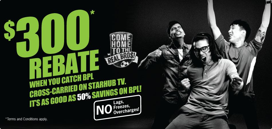 StarHub gives S$300 bill rebate to attract BPL subscribers