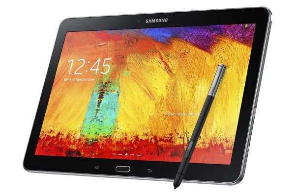 GALAXY Note 10.1 2014 Edition_Jet Black_Right Perspective with S Pen