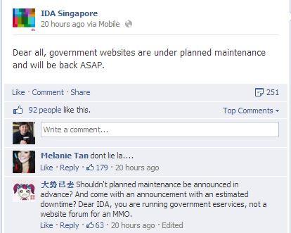 IDA Facebook updates
