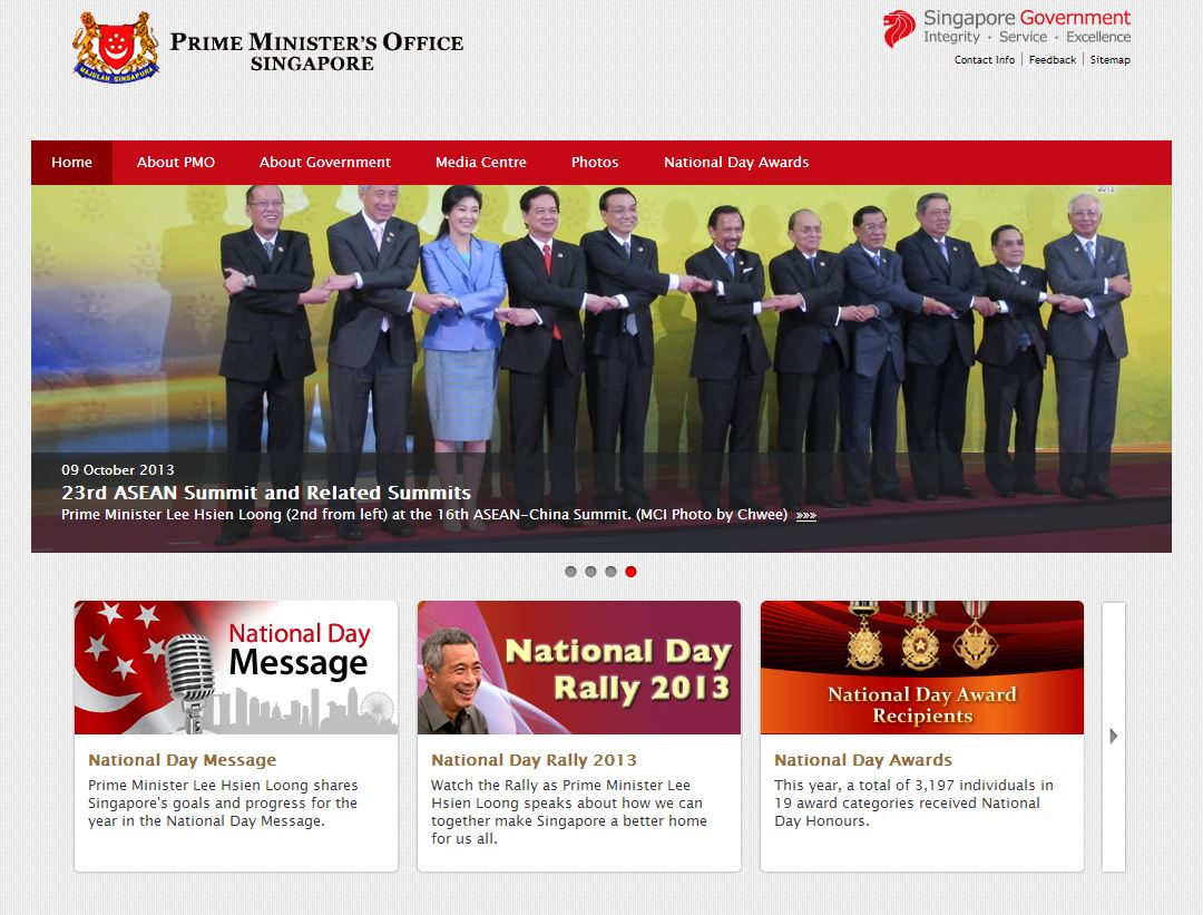 Section of Singapore PM's site hacked into