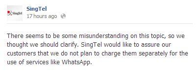 singtel facebook