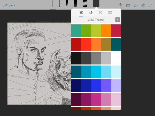 Sketch comes with built-in Color Themes, and themes you can customise yourself.