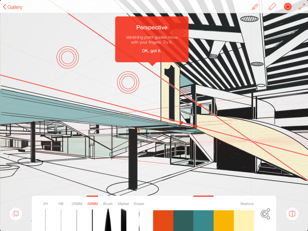 Line is pretty slick and comes with a handy Perspective Grid tool.
