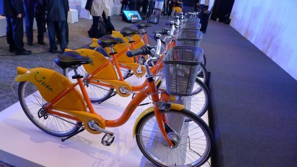 Sensors help keep track of rented bikes in Taipei.