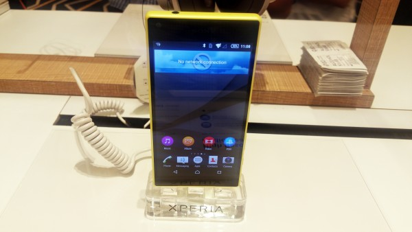 Xperia Z5 compact shown at a Sony launch event in Singapore on September 23