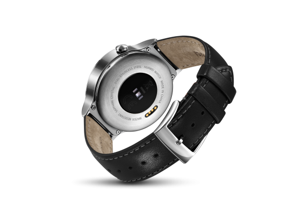 Huawei Watch Silver - Black Leather Strap_005