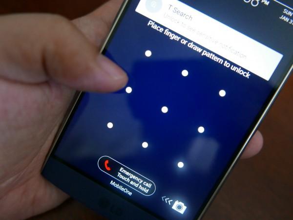unlocking a phone screen