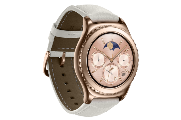 samsung 39 s gear s2 smartwatch in rose gold and platinum out. Black Bedroom Furniture Sets. Home Design Ideas