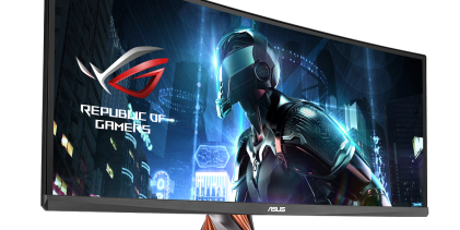 """Asus' Swift PG348Q curved monitor promises """"panoramic gaming"""""""