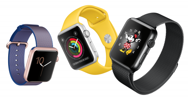 Apple Watch with various faces and bands. Source: Handout.