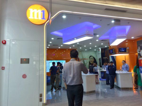 M1 shopfront in Singapore. PHOTO: Wilson Wong for Techgoondu.