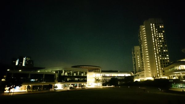Graininess can be seen in the buildings as the sensors struggle to pick up light. PHOTO: Desmond Koh
