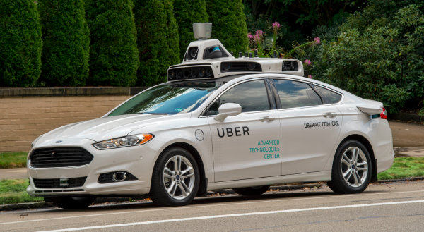 A Uber self-driving car in Pittsburgh in the United States. PHOTO:  Uber