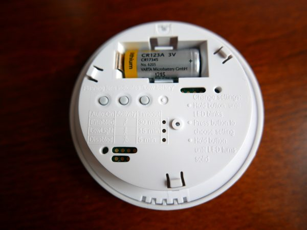 A Lutron activity sensor can be set to automatically switch on or off the lights in a room. PHOTO: Alfred Siew