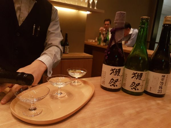 The Dassai 23 bar at Kyobashi near the Tokyo station serves up the popular sake. PHOTO: Alfred Siew
