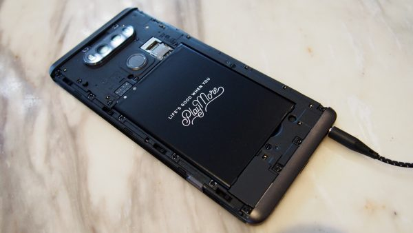 Removable back cover and battery. This, or waterproofing? Your choice. PHOTO: Desmond Koh