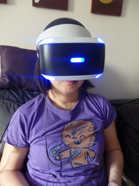 Lost in motion - the PS VR looks huge on my face but fits comfortably.