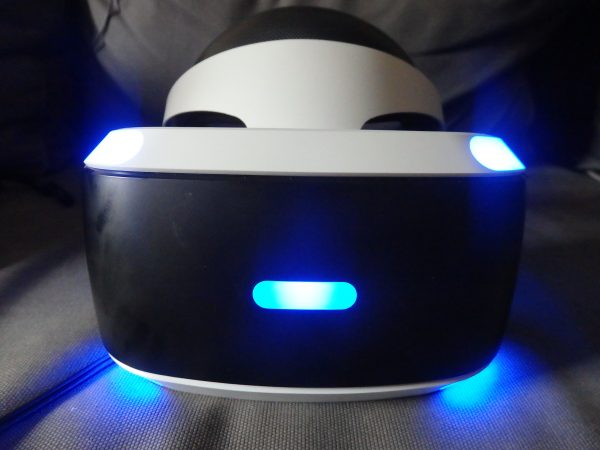 True blue - the PS VR headset looks futuristic and glows beautiful blue.