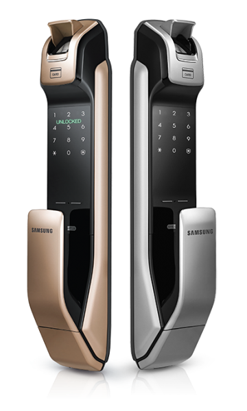 Samsung Smart Door Lock SHP-DP728 (S$1,080). Comes with fingerprint recognition. PHOTO: Press Kit