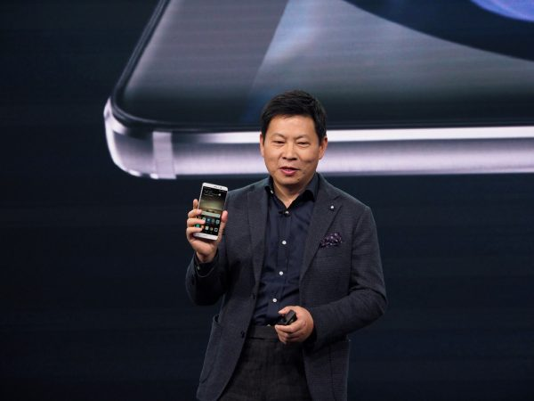 Richard Yu, CEO of Huawei's consumer business group, speaking at the launch of the Mate 9 in Munch in November 2016. PHOTO: Wilson Wong
