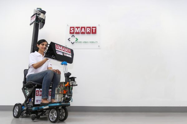 The self-driving electric scooter developed by the Singapore-MIT Alliance for Research and Technology (SMART). PHOTO: SMART