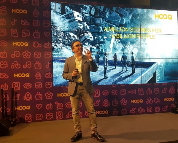 Peter Bithos, CEO of Hooq, at the launch of the service in Singapore on November 24. PHOTO: Handout
