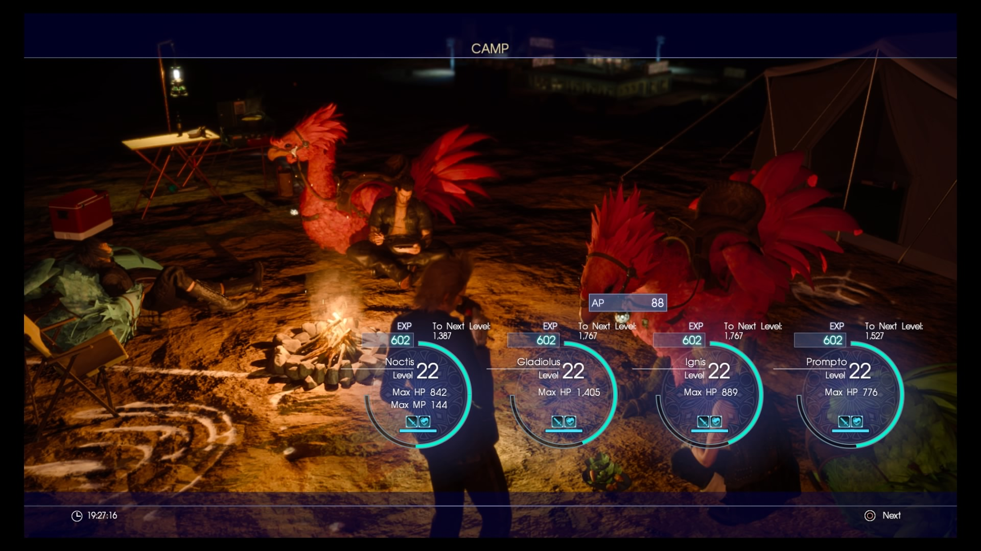 Goondu Review Final Fantasy Xv Techgoondu Deluxe Edition Region 3 Camping With Chocobos These Tame Birds Are A Great Form Of Transportation Companionship And Entertainment Screenshot Yap Hui Bin