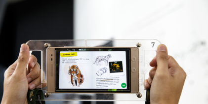 Experience augmented reality at ArtScience Museum with a Lenovo Phab 2 Pro