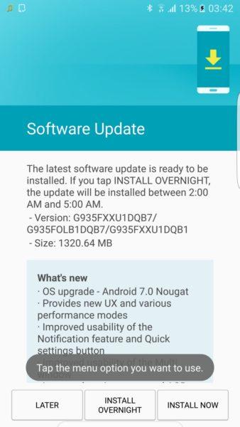 Samsung Galaxy S7, S7 edge finally get Nougat update in