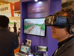 Experiencing Singapore-made virtual reality school lessons and medical training