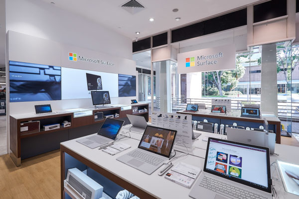 Microsoft finally has a complete lineup of its Surface devices at its new Singapore store