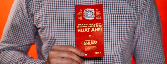 Go cashless while giving out a DBS QR code angpow this Chinese New Year